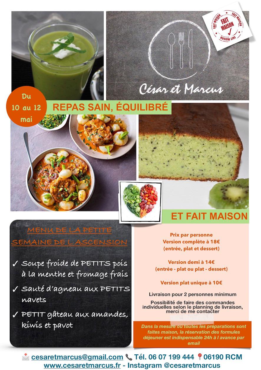Menu semaine 19 - 2021 - Menu semaine 18 - 2021 - Menu Joli mois de Mai - Livraison Lunch Box Monaco Roquebrune Menton - Livraison Lunch Box Monaco Roquebrune Menton